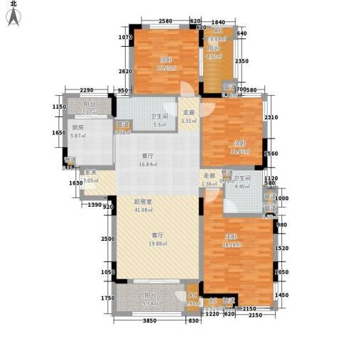 钱隆学府3室0厅2卫1厨131.00㎡户型图