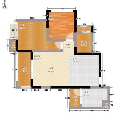 绿云国际纺织服装城2室0厅1卫1厨86.00㎡户型图