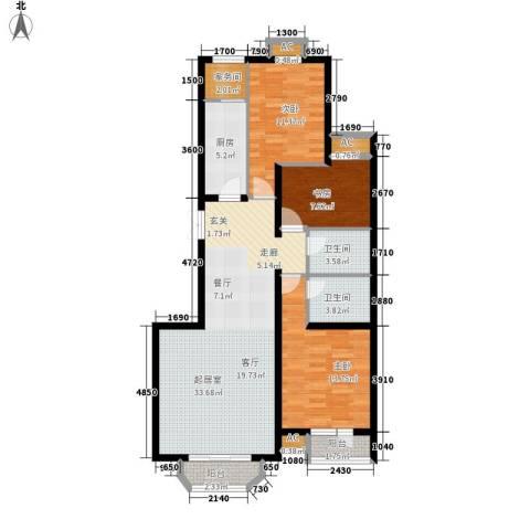 罗马世纪城3室0厅2卫1厨117.00㎡户型图