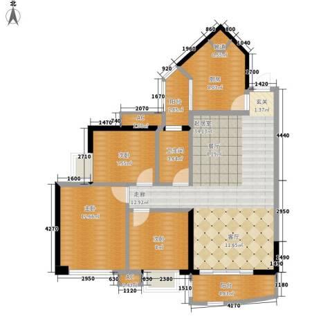恒荔湾畔3室0厅1卫1厨96.00㎡户型图