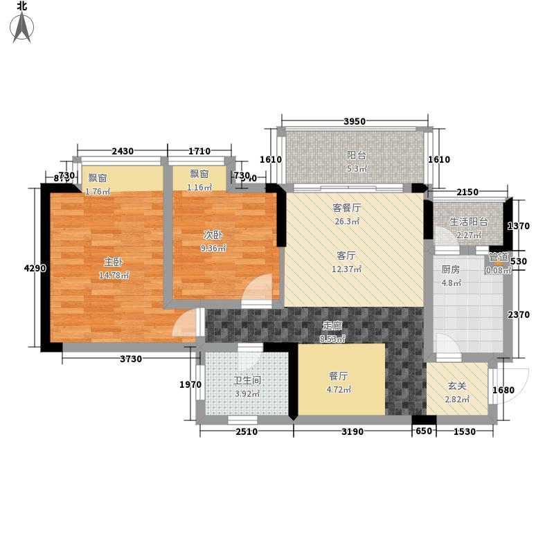 枫丹树语城67.24㎡三期面积6724m户型