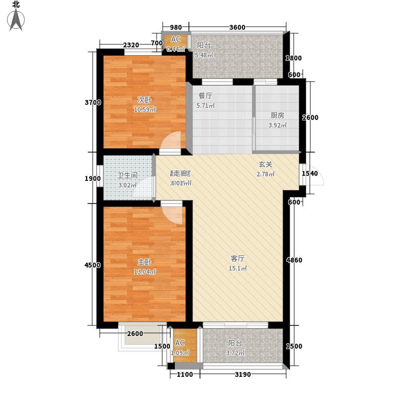 沈阳群升新天地格调A1-2户型2室2厅