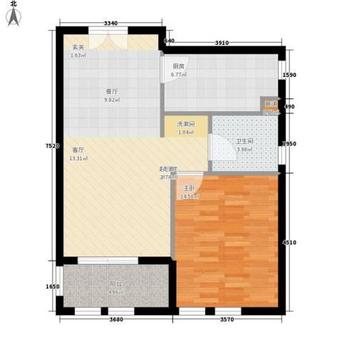 君悦国际花园1室0厅1卫1厨64.00㎡户型图