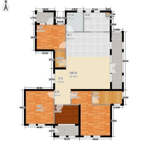 君悦国际花园4室0厅1卫1厨183.00㎡户型图