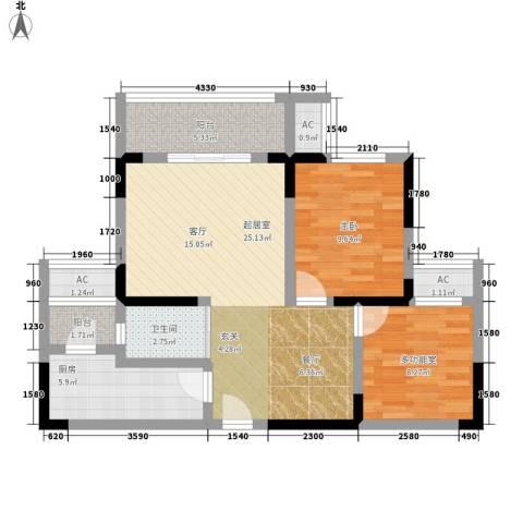 光亮阳光佳苑1室0厅1卫1厨92.00㎡户型图
