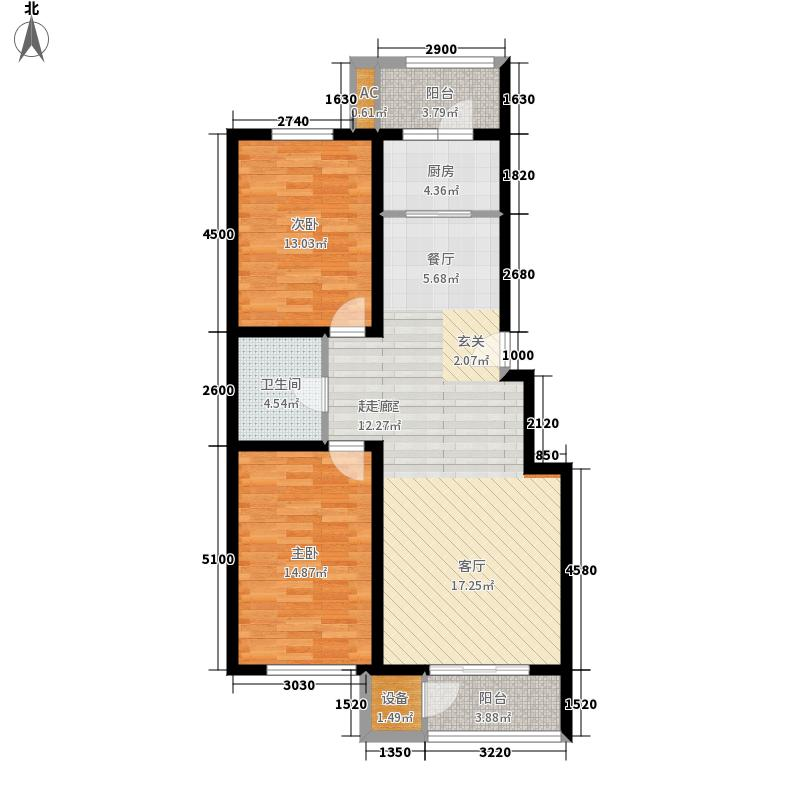 恒益隆庭106.03㎡一期1号楼标准层G2户型
