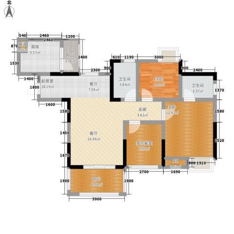 绿云国际纺织服装城2室0厅2卫1厨98.00㎡户型图