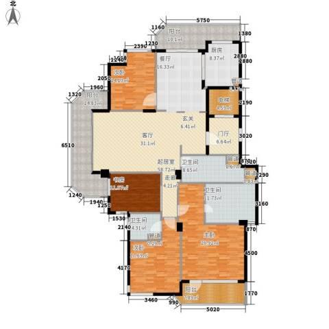 绿城慈园4室0厅3卫1厨230.00㎡户型图