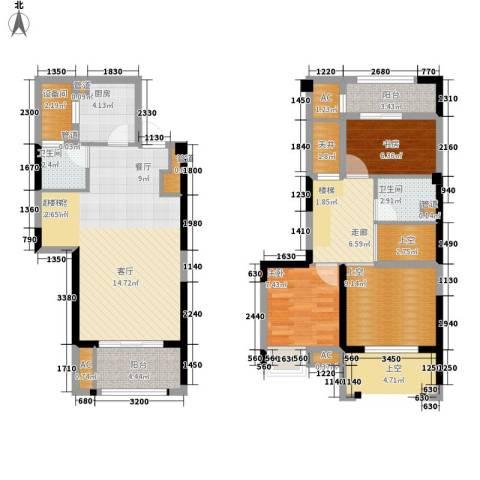 泰禾红树林2室0厅2卫1厨104.00㎡户型图