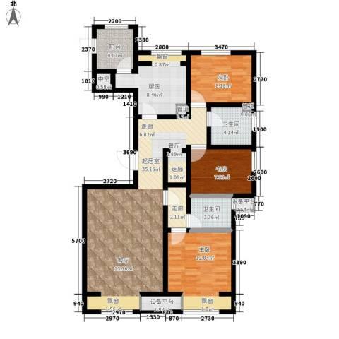 弘泽鉴筑3室0厅2卫1厨127.00㎡户型图