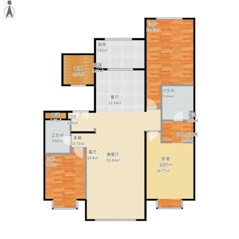 北京城建·世华龙樾3室1厅2卫1厨172.00㎡户型图