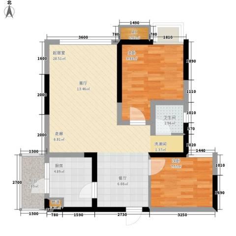 绿云国际纺织服装城2室0厅1卫1厨82.00㎡户型图
