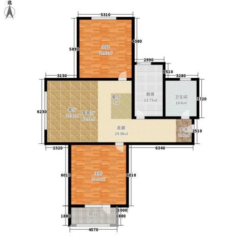 中铁四季公馆2室1厅1卫1厨168.00㎡户型图