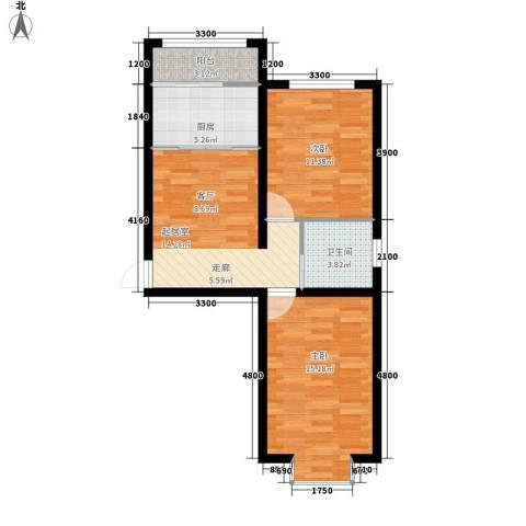 康景楼2室0厅1卫1厨76.00㎡户型图