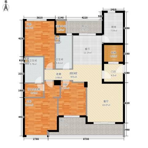 绿城慈园3室0厅2卫1厨163.00㎡户型图