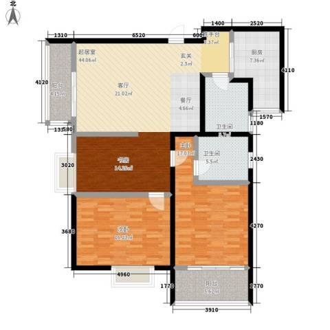 九如御2室0厅2卫1厨123.00㎡户型图