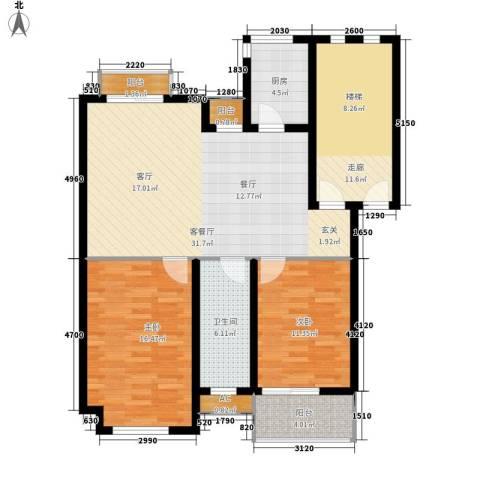 金丰花园2室1厅1卫1厨126.00㎡户型图