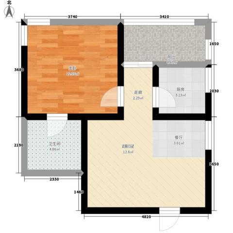 九如御1室0厅1卫1厨49.00㎡户型图