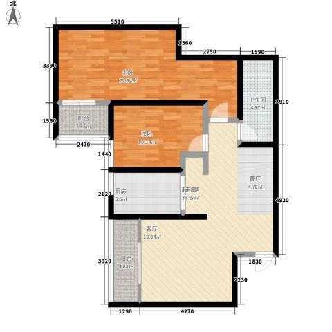 九如御2室0厅1卫1厨94.00㎡户型图