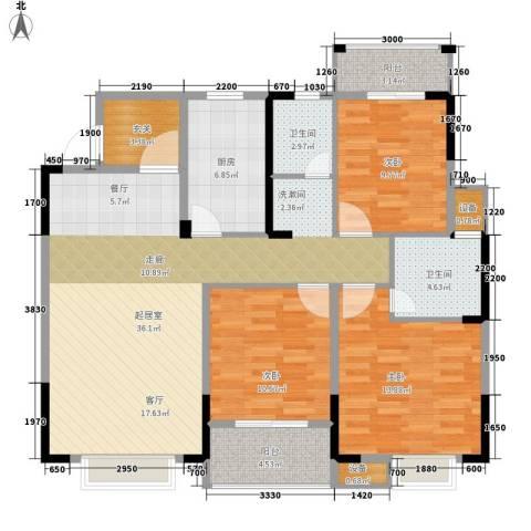 长城南雅名居3室0厅2卫1厨135.00㎡户型图