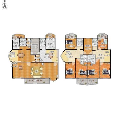 南草坪花园6室1厅7卫2厨448.00㎡户型图