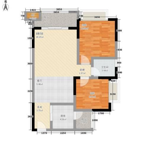 恒春凤凰城2室0厅1卫1厨103.00㎡户型图