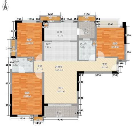 万科松山湖悦3室0厅2卫1厨137.00㎡户型图