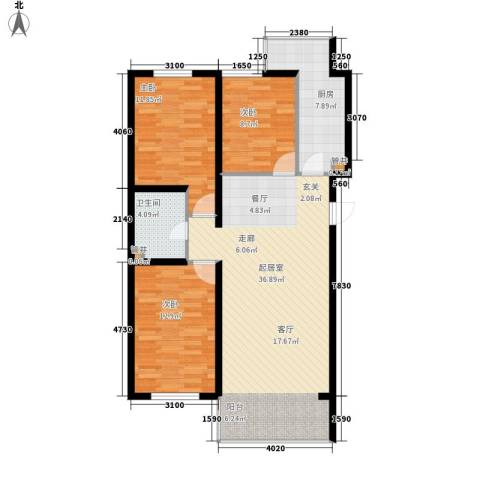 展轮新世界3室0厅1卫1厨115.00㎡户型图