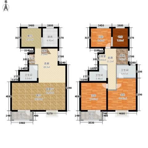 中铁四季公馆4室1厅3卫1厨170.97㎡户型图