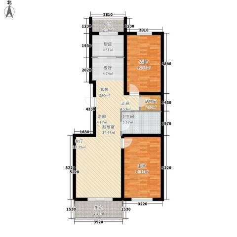 天吉锦程苑2室0厅1卫1厨113.00㎡户型图