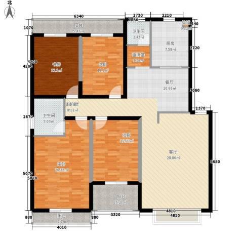 仁和雨花家园4室0厅2卫1厨148.00㎡户型图