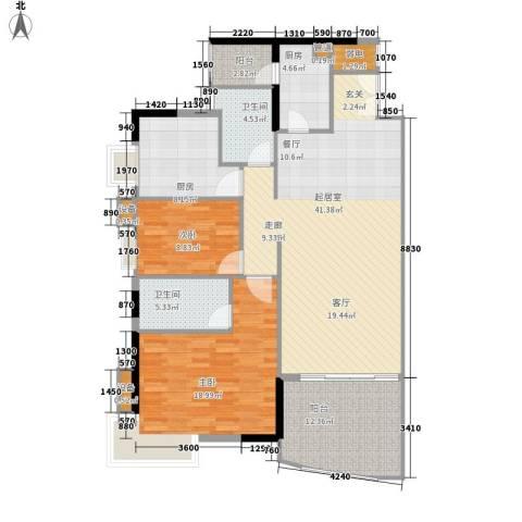 江南新苑2室0厅2卫2厨128.00㎡户型图