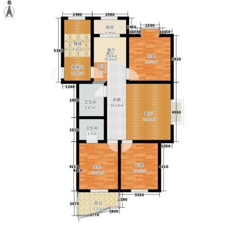 三兴园1室1厅2卫1厨118.00㎡户型图