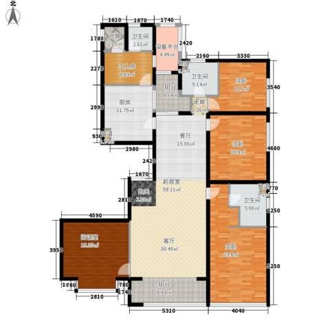 鹭港小区3室0厅3卫1厨193.00㎡户型图