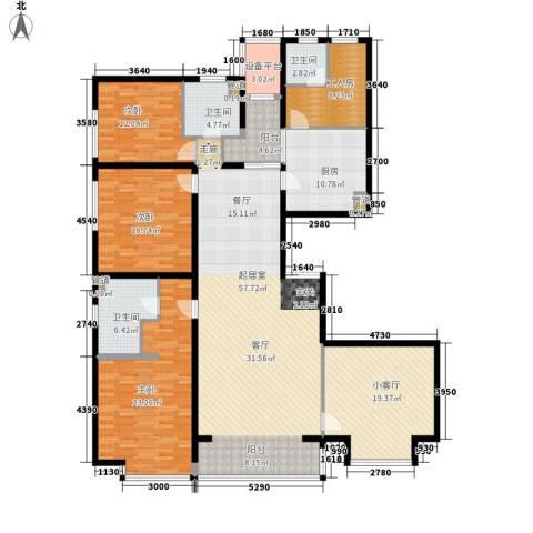 鹭港小区3室0厅3卫1厨191.00㎡户型图