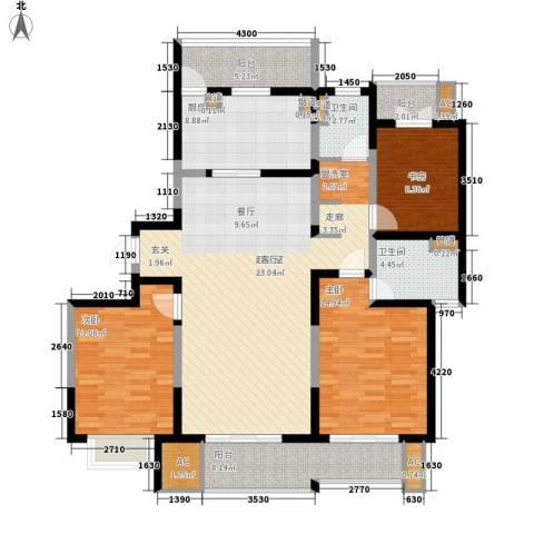 和风雅致3室0厅2卫1厨145.00㎡户型图