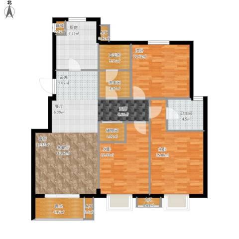 缇香漫城3室1厅2卫1厨139.00㎡户型图