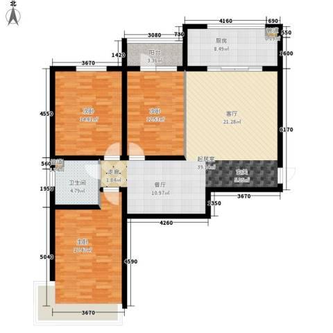 东上华府3室0厅1卫1厨114.00㎡户型图