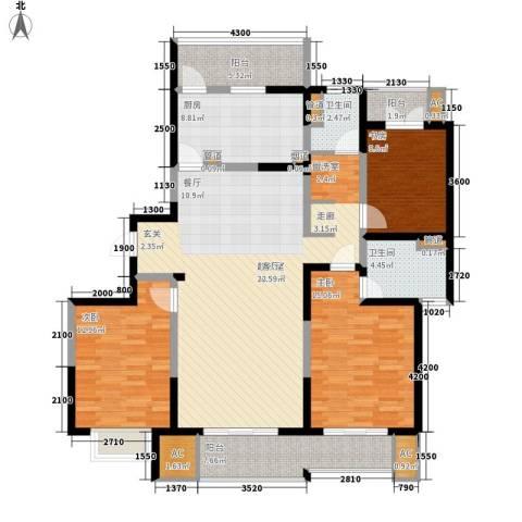 和风雅致3室0厅2卫1厨143.00㎡户型图