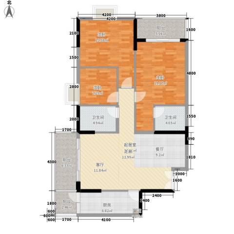 狮子洋1号3室0厅2卫1厨130.00㎡户型图