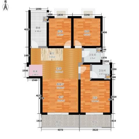 金源皇家园林1室1厅2卫1厨132.00㎡户型图