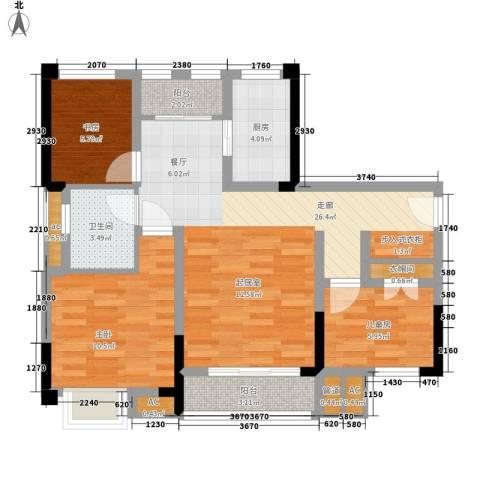 仁安龙城国际三期3室0厅1卫1厨72.00㎡户型图