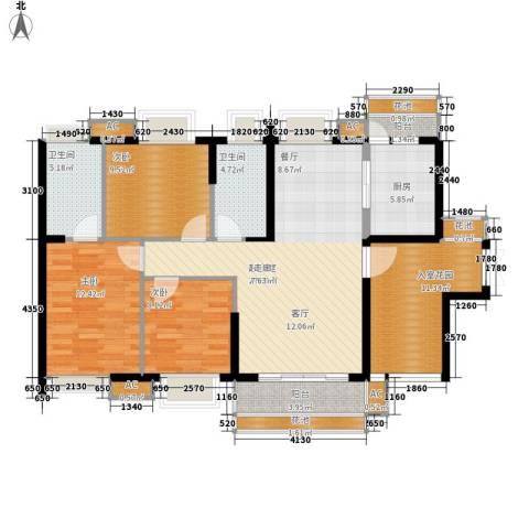 翡翠山湖三期臻萃园3室0厅2卫1厨138.00㎡户型图