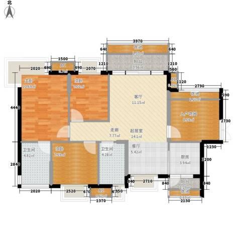 翡翠山湖三期臻萃园3室0厅2卫1厨121.00㎡户型图