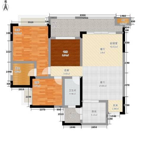 恒春凤凰城2室0厅1卫1厨137.00㎡户型图