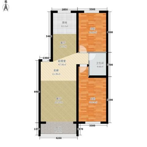 西城首府2室0厅1卫0厨113.00㎡户型图