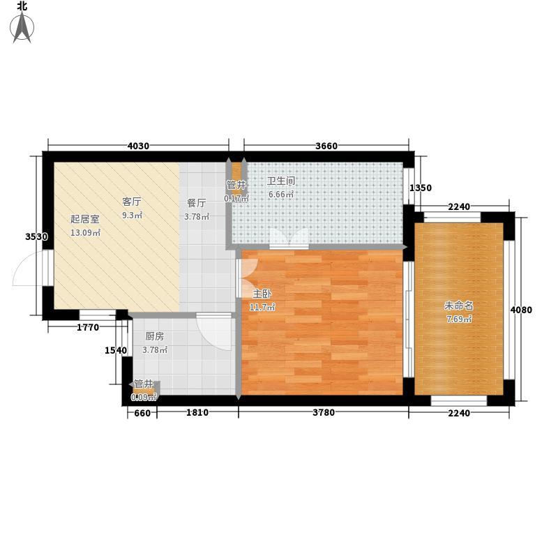 长滩雨林55.00㎡花园洋房1C户型