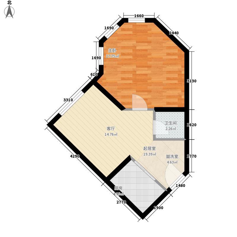 萨尔斯堡65.53㎡38#楼E户型