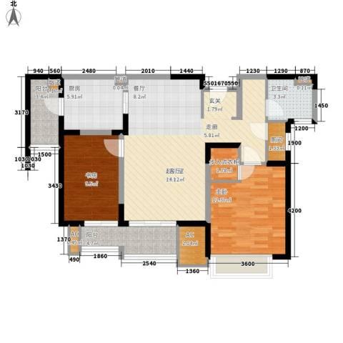 和风雅致2室0厅1卫1厨97.00㎡户型图