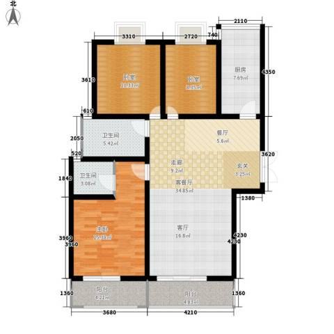 金源皇家园林1室1厅2卫1厨137.00㎡户型图
